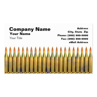 Ammunition Against White Background Business Card