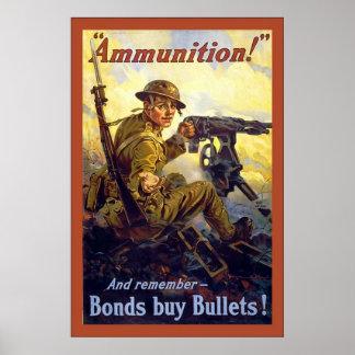 Ammunition!~Vintage World War 1 Print