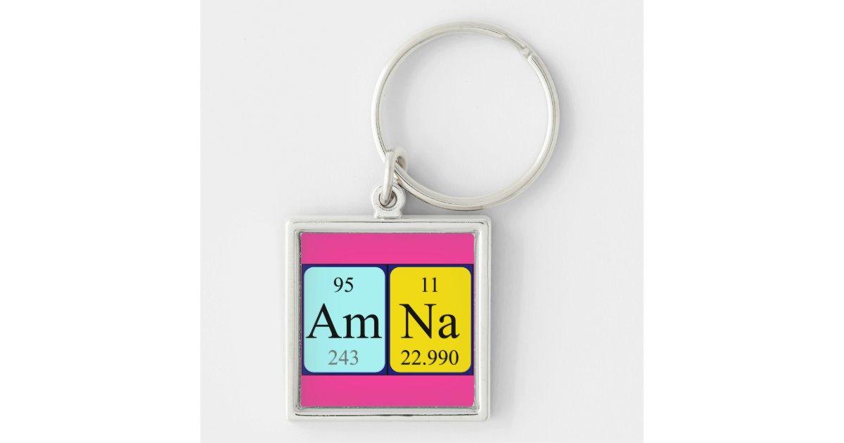 Amna periodic table name keyring zazzle urtaz Gallery