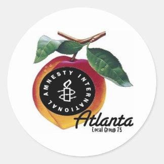 amnestypeachatl classic round sticker