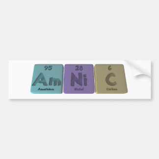 Amnic-Am-Ni-C-Americium-Nickel-Carbon Bumper Sticker