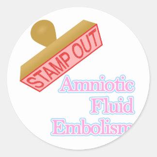 Amniotic Fluid Embolism Classic Round Sticker