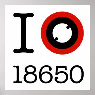 Amo 18650 baterías Li-Ion Póster
