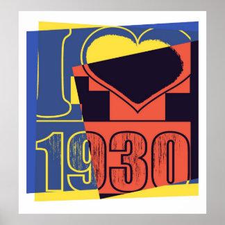 Amo 1930 - poster del arte pop