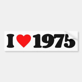 AMO 1975 ETIQUETA DE PARACHOQUE