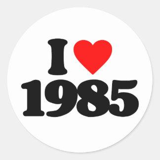 AMO 1985 PEGATINA REDONDA