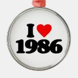 AMO 1986 ADORNO NAVIDEÑO REDONDO DE METAL