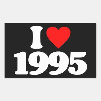 AMO 1995 PEGATINA RECTANGULAR