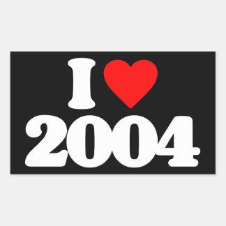 AMO 2004 PEGATINA RECTANGULAR