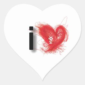 amo 2011 pegatina en forma de corazón