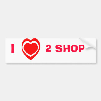 Amo 2 la tienda, pegatina para el parachoques pegatina para auto