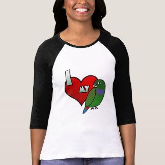Amo 3/4 camiseta de la manga de mis mujeres de playeras