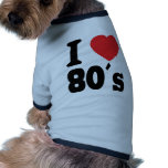 Amo 80 ´s camisetas de perrito