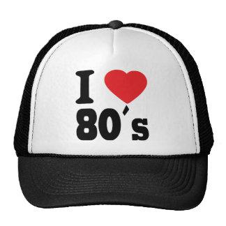 Amo 80 ´s gorras