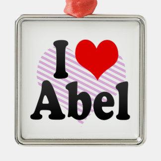 Amo a Abel Ornamentos De Navidad