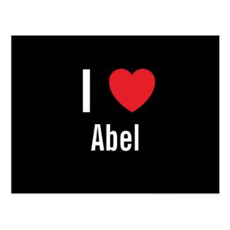 Amo a Abel Tarjeta Postal