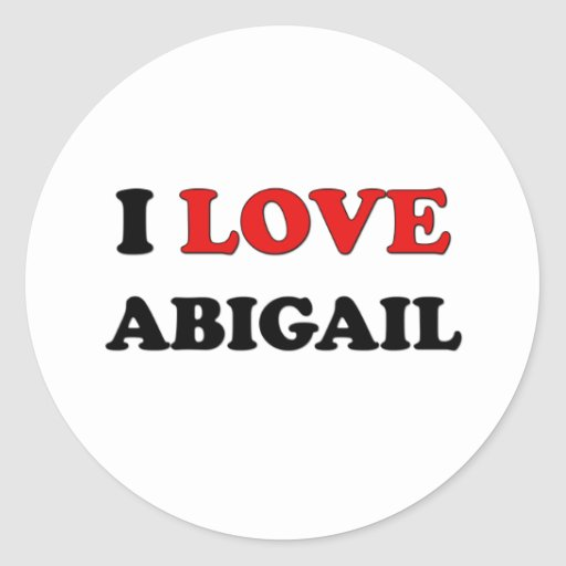 Amo a Abigail Pegatina Redonda