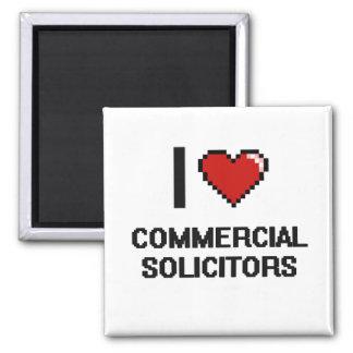 Amo a abogados comerciales imán cuadrado