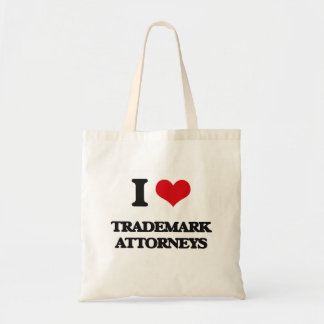 Amo a abogados de la marca registrada bolsas de mano