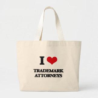 Amo a abogados de la marca registrada bolsa