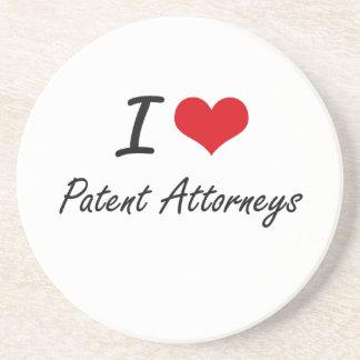 Amo a abogados de patentes posavasos diseño
