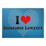 Amo a abogados del seguro tarjeta