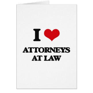 Amo a abogados en la ley felicitación