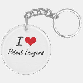 Amo a abogados especializados en derecho de llavero redondo acrílico a doble cara