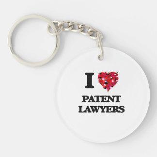 Amo a abogados especializados en derecho de llavero redondo acrílico a una cara