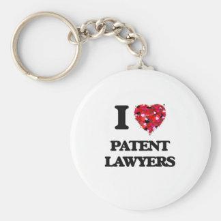 Amo a abogados especializados en derecho de llavero redondo tipo pin
