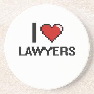 Amo a abogados posavasos para bebidas