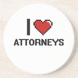 Amo a abogados posavaso para bebida