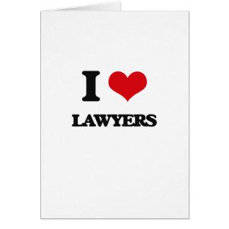 Amo a abogados tarjetón