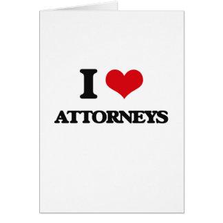 Amo a abogados tarjeta