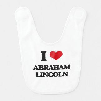 Amo a Abraham Lincoln Baberos De Bebé