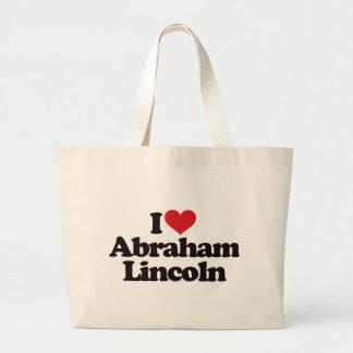 Amo a Abraham Lincoln Bolsa Tela Grande
