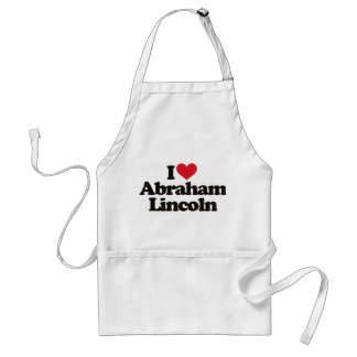Amo a Abraham Lincoln Delantal