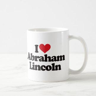 Amo a Abraham Lincoln Taza De Café