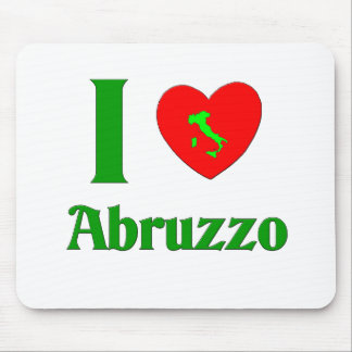 Amo a Abruzos Italia Tapete De Raton