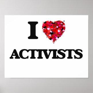 Amo a activistas póster