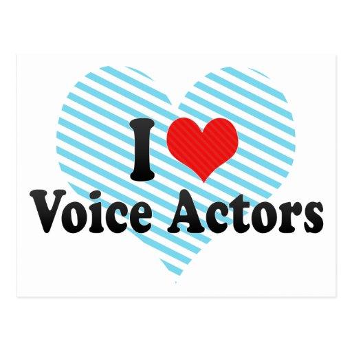 Amo a actores de la voz postales