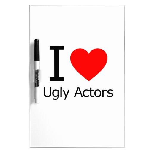 Amo a actores feos pizarras