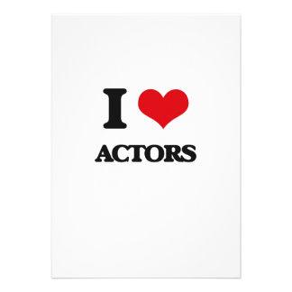 Amo a actores invitación