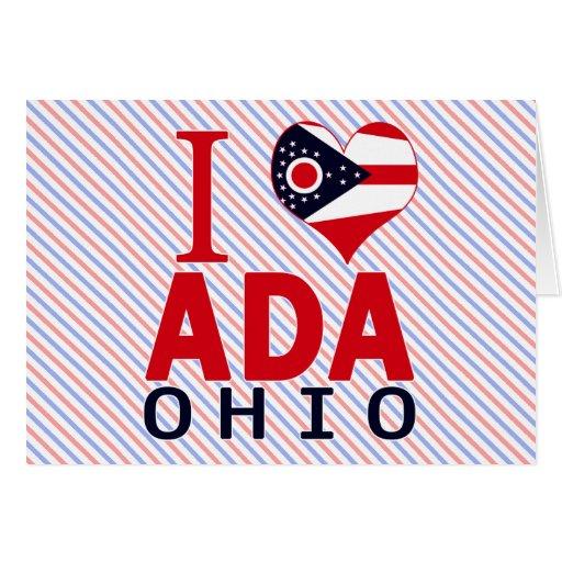 Amo a Ada, Ohio Tarjeta De Felicitación