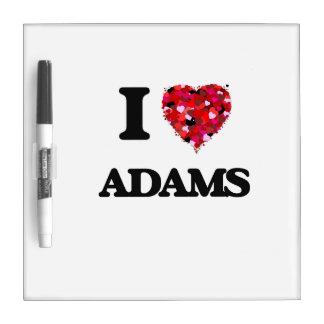 Amo a Adams Pizarras Blancas De Calidad