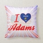 Amo a Adams, Wisconsin Cojines