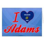 Amo a Adams, Wisconsin Felicitación