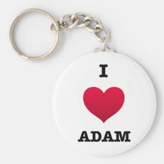 Amo a Adán Llavero Redondo Tipo Pin