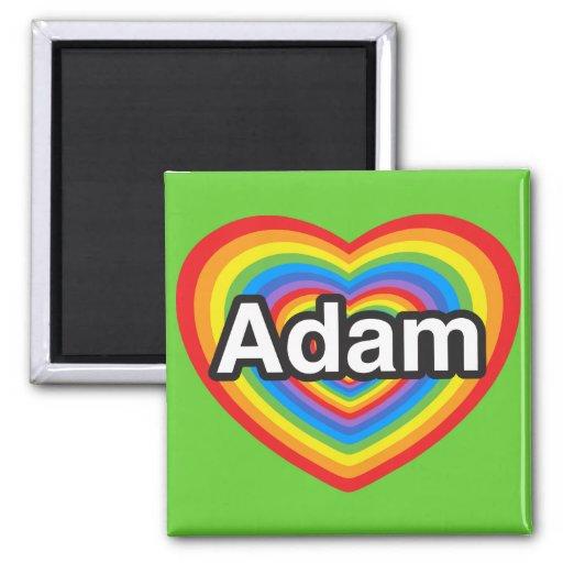 Amo a Adán. Te amo Adán. Corazón Imán Para Frigorifico