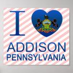 Amo a Addison, PA Poster